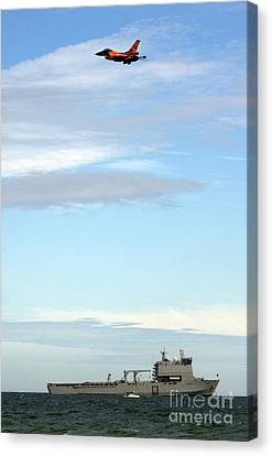 F16 Canvas Print by Angel  Tarantella