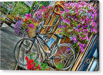 Flower Bike Collection Canvas Print by Marvin Blaine