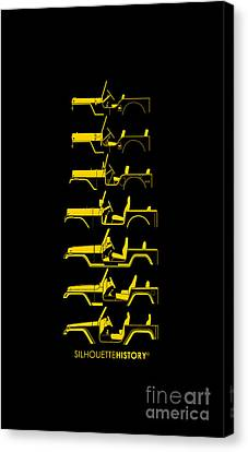 General Purpose Silhouettehistory Canvas Print by Balazs Iker