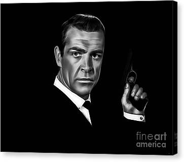 James Bond Collection Canvas Print by Marvin Blaine
