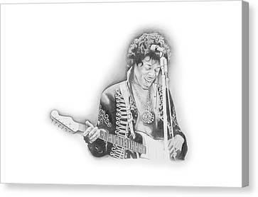 Jimi Hendrix  Canvas Print by Don Medina