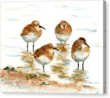 4 Little Pipers Canvas Print by Marsha Elliott