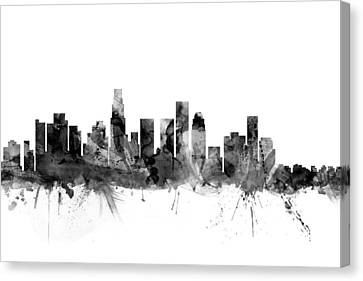 Los Angeles California Skyline Canvas Print by Michael Tompsett