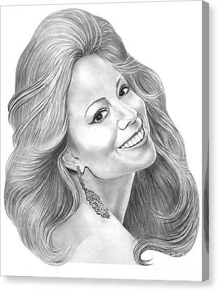 Mariah Carey  Canvas Print by Murphy Elliott