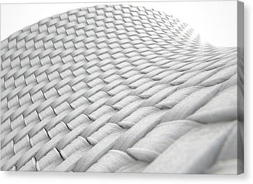 Micro Fabric Weave Clean Canvas Print by Allan Swart