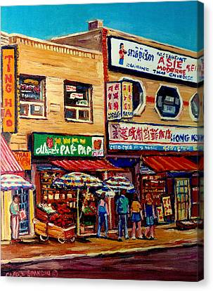 Montreal Paintings Canvas Print by Carole Spandau