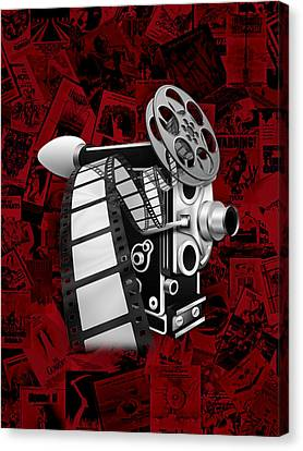 Movie Room Decor Collection Canvas Print by Marvin Blaine