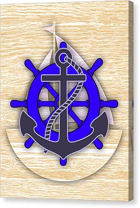 Nautical Collection Canvas Print by Marvin Blaine
