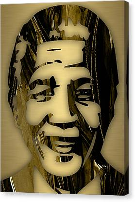 Nelson Mandela Collection Canvas Print by Marvin Blaine