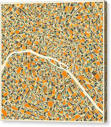 Paris Map Canvas Print by Jazzberry Blue