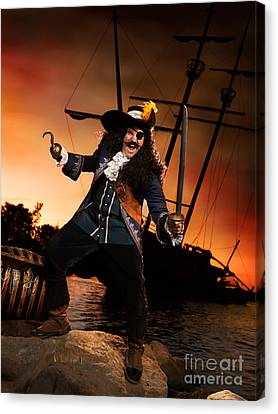 Pirate With A Treasure Chest Canvas Print by Oleksiy Maksymenko