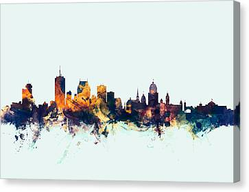 Quebec Canada Skyline Canvas Print by Michael Tompsett