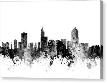 Raleigh North Carolina Skyline Canvas Print by Michael Tompsett