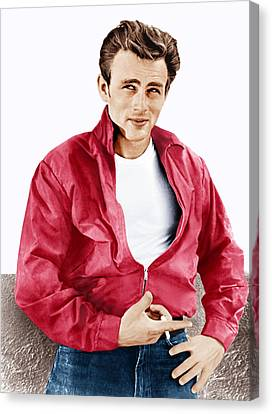Rebel Without A Cause, James Dean, 1955 Canvas Print by Everett