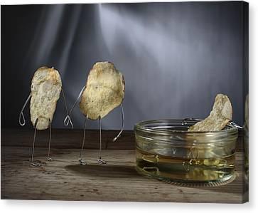 Simple Things - Potatoes Canvas Print by Nailia Schwarz