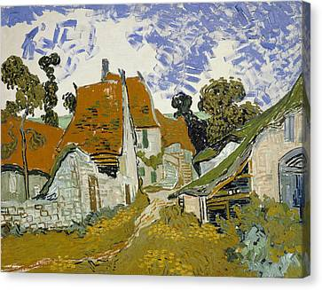 Street In Auvers-sur-oise Canvas Print by Vincent van Gogh