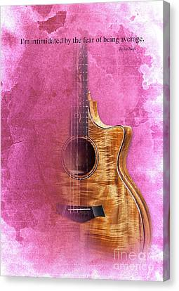 Taylor Inspirational Quote, Acoustic Guitar Original Abstract Art Canvas Print by Pablo Franchi