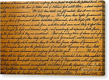 The Declaration Of Independence  Canvas Print by American School