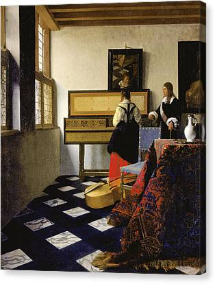 The Music Lesson Canvas Print by Johannes Vermeer