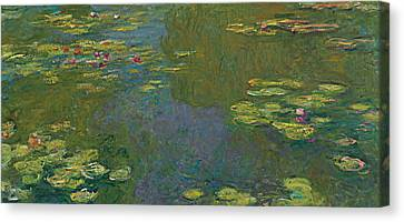 The Waterlily Pond Canvas Print by Claude Monet