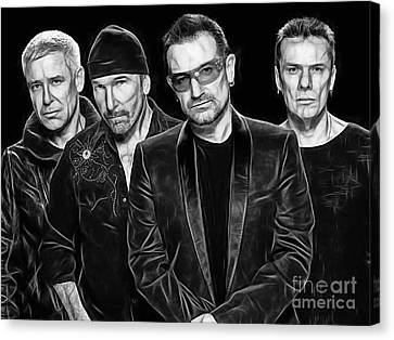 U2 Collection Canvas Print by Marvin Blaine