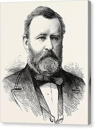 Ulysses S Grant Canvas Print by American School