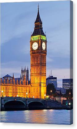 View Of Big Ben And Houses Canvas Print by Panoramic Images