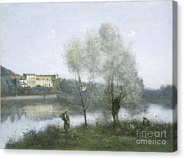 Ville D'avray Canvas Print by Jean Baptiste Camille Corot