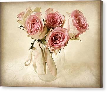 Vintage Bouquet Canvas Print by Jessica Jenney