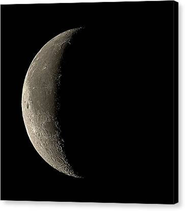 Waning Crescent Moon Canvas Print by Eckhard Slawik