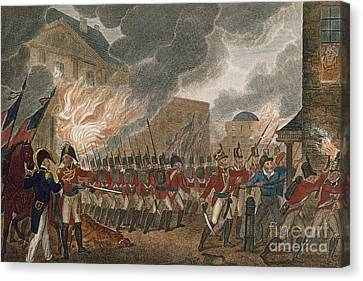 Washington Burning, 1814 Canvas Print by Granger