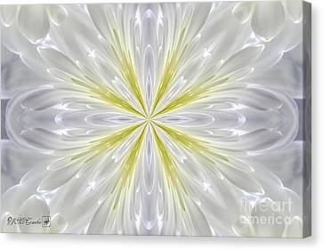 White Arctic Queen Kaleidoscope Canvas Print by J McCombie