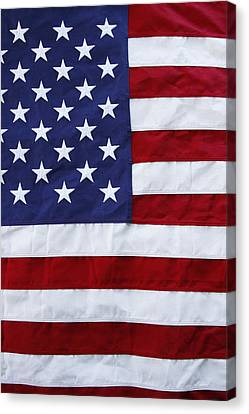 Usa Flag Canvas Print by Les Cunliffe