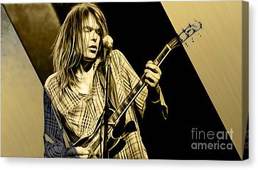 Neil Young Collection Canvas Print by Marvin Blaine