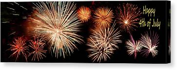 4th Of July - Fireworks Canvas Print by Nikolyn McDonald