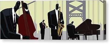 4th Street Bridge Quartet  Canvas Print by Darryl Daniels