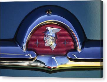 1953 Mercury Monterey Emblem Canvas Print by Jill Reger