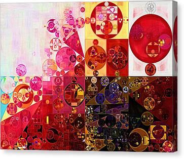 Abstract Painting - Dark Sienna Canvas Print by Vitaliy Gladkiy