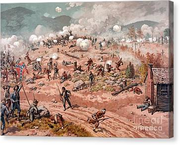 American Civil War, Battle Canvas Print by Science Source