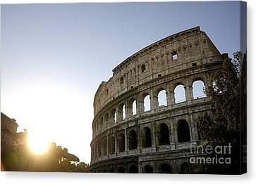 Coliseum. Rome Canvas Print by Bernard Jaubert