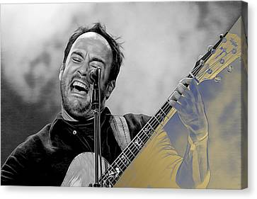 Dave Matthews Collection Canvas Print by Marvin Blaine