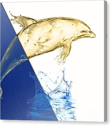 Dolphin Collection Canvas Print by Marvin Blaine