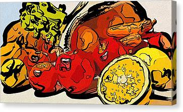 For Food Judge Canvas Print by Michael Vicin