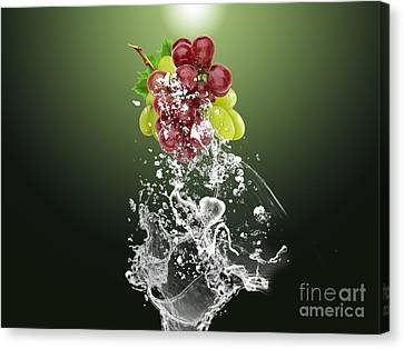 Grape Splash Canvas Print by Marvin Blaine