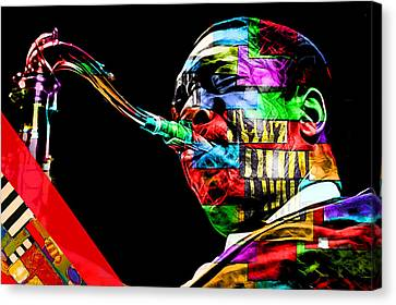 John Coltrane Collection Canvas Print by Marvin Blaine