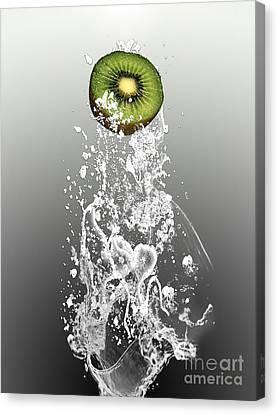 Kiwi Splash Canvas Print by Marvin Blaine