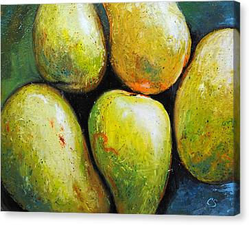 5 Mangos Canvas Print by Chris Steinken