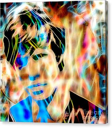 Mick Jagger Of The Rolling Stones1964 Painting Canvas Print by Marvin Blaine