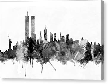 New York City Skyline Canvas Print by Michael Tompsett