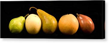 5 Pears Canvas Print by Cabral Stock